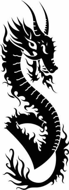 Dragon Vector Tatoo free CDR Vectors File