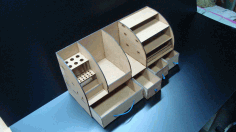 Drawer with Pencil Box and Paper Rack Laser Cut CDR File