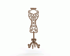 Dress Form Mannequin MDF Laser Cut 6mm Free CDR File