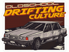Drifting Club Sticker Download Free Vector CDR File