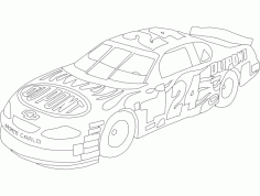 Dupont Chevy 24 Lineart Free DXF Vectors File