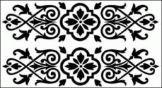 Dxf Grille Patterns And Wrought Iron Design Free Vector Dxf File DXF File