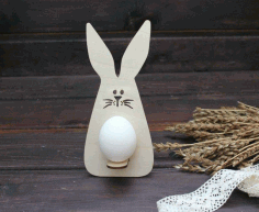 Easter Bunny Egg Holder Laser Cutting Template Free CDR Vectors File