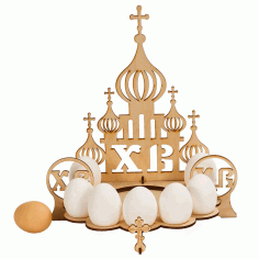 Easter Egg Stand Church Laser Cut Template Free CDR Vectors File