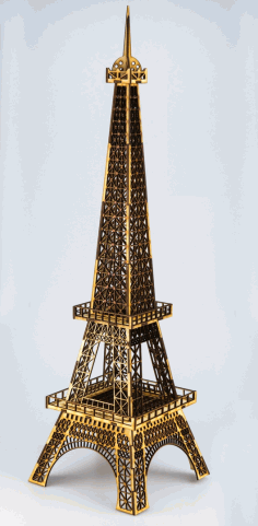 Eiffet Tower Plywood Laser Cut 3mm Free CDR File