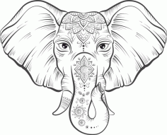 Elephant Lotus Vector Free Vector CDR File