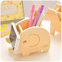 Elephant Phone Holder Pen Pencil Holder Laser Cut Laser Cut Free CDR File