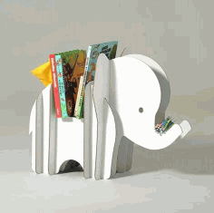 Elephant Storage and Pen Holder 3D Puzzle Laser Cut Free CDR File