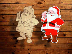 Engrave Santa Claus Christmas Decoration Laser Cut CDR File
