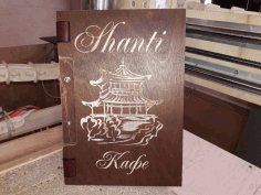Engraved Leather Menu Cover DXF File