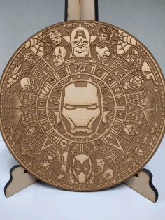 Engraved Marvel Mayan Calendar Laser Cutting CDR File