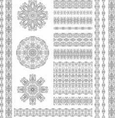 Ethnic Pattern Set Free CDR Vectors File