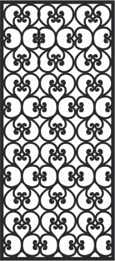 European Wrought Style 01 Laser Cut CDR File