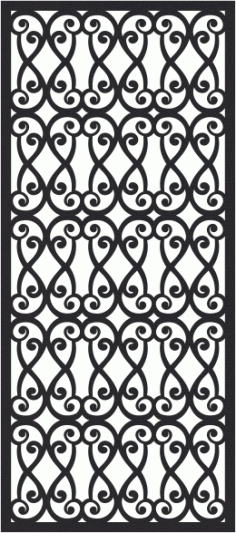 European Wrought Style 02 Laser Cut CDR File