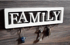 Family House Keeper Laser Cut Free CDR File