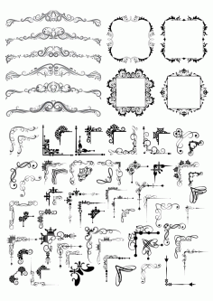 Fancy Decor Element Set Free CDR Vectors File