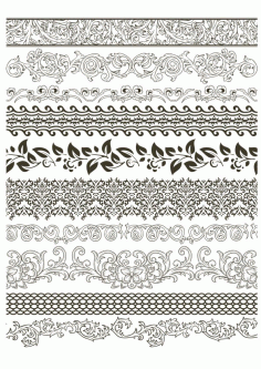 Fancy Floral Borders Free CDR Vectors File