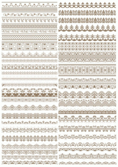 Fancy Lace Border Vectors Free CDR Vectors File