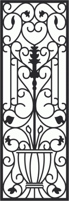 Faux Wrought Iron Pattern Free CDR Vectors File