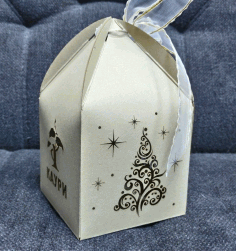 Favor Box For Weddings and Party Gifts Laser Cut CDR File