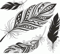 Feather Set Free CDR Vectors File