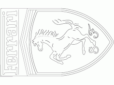 Ferrari Car Logo DXF File