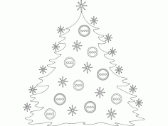 Festive Stuff Christmas Tree dxf File DXF File