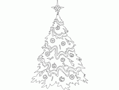 Festive Things Christmas Tree dxf File DXF File