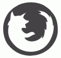 Firefox Browser Logo DXF File