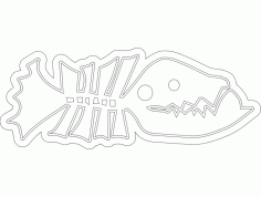 Fish Line Art CNC Router Free DXF File