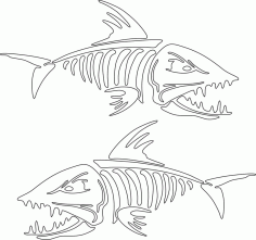 Fish Skeleton Vector Art CDR File
