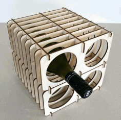 Flat Pack Wine Rack DXF File