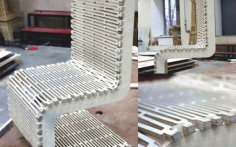Flexible Wooden Chair CNC Laser Cutting Free CDR File