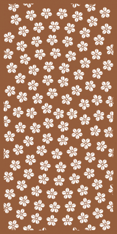 Floral Decor Screen Panel Pattern Free Vector CDR File