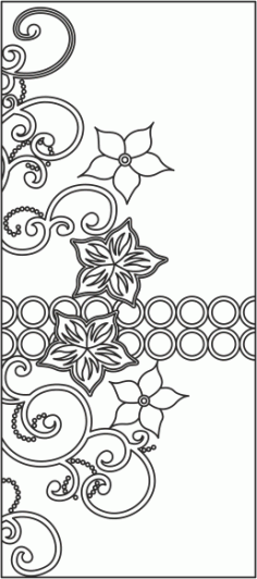 Floral Design Wardrobe Door Vector free CDR Vectors File
