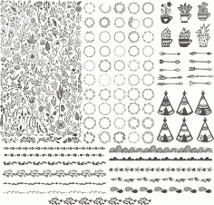 Floral Kit Handdrawn Free CDR Vectors File