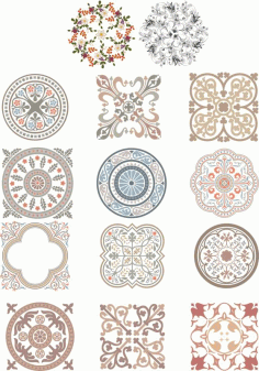 Floral Mandala Ornament Laser Cutting CDR File