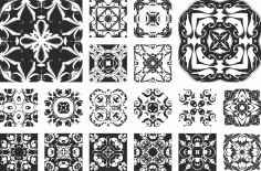 Floral Ornament Set Free CDR Vectors File