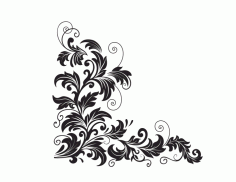 Floral Pattern Corner Design Free CDR Vectors File