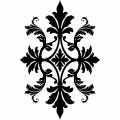 Floral Pattern Design DXF Vectors File
