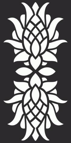 Floral Privacy Screen Pattern for CNC Laser Cut Free Vector CDR File