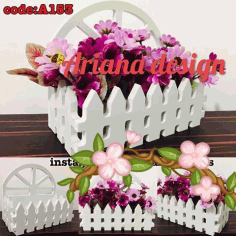 Flower Basket Laser Cut CDR File