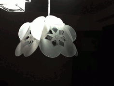 Flower Lamp Laser Cut DXF File
