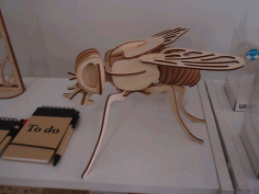 Fly 3D Woodcraft Hobby Wooden Model Laser Cut CDR File