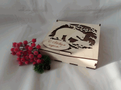 Folding Lid Candy Box Plywood 4mm Laser Cut CDR File