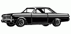Ford Falcon Car DXF File