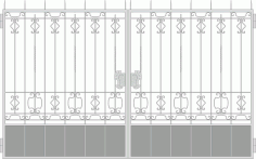 Forged Gates Design Vector Free Vector CDR File