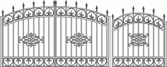 Forged Gates Sketch Vector Laser Cut CDR File