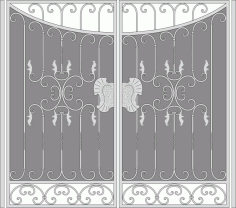 Forged Iron Gate Vector Art Free Vector CDR File