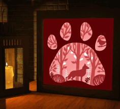 Fox LED Night Light Box Vector File Free CDR File